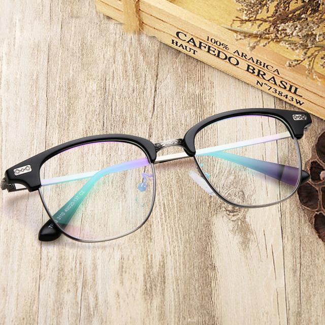 2017 Projeto TR90 Vidros Ópticos Miopia Do Vintage Óculos Oculos de grau Óculos Armações de Óculos de Olho Para As Mulheres Homens