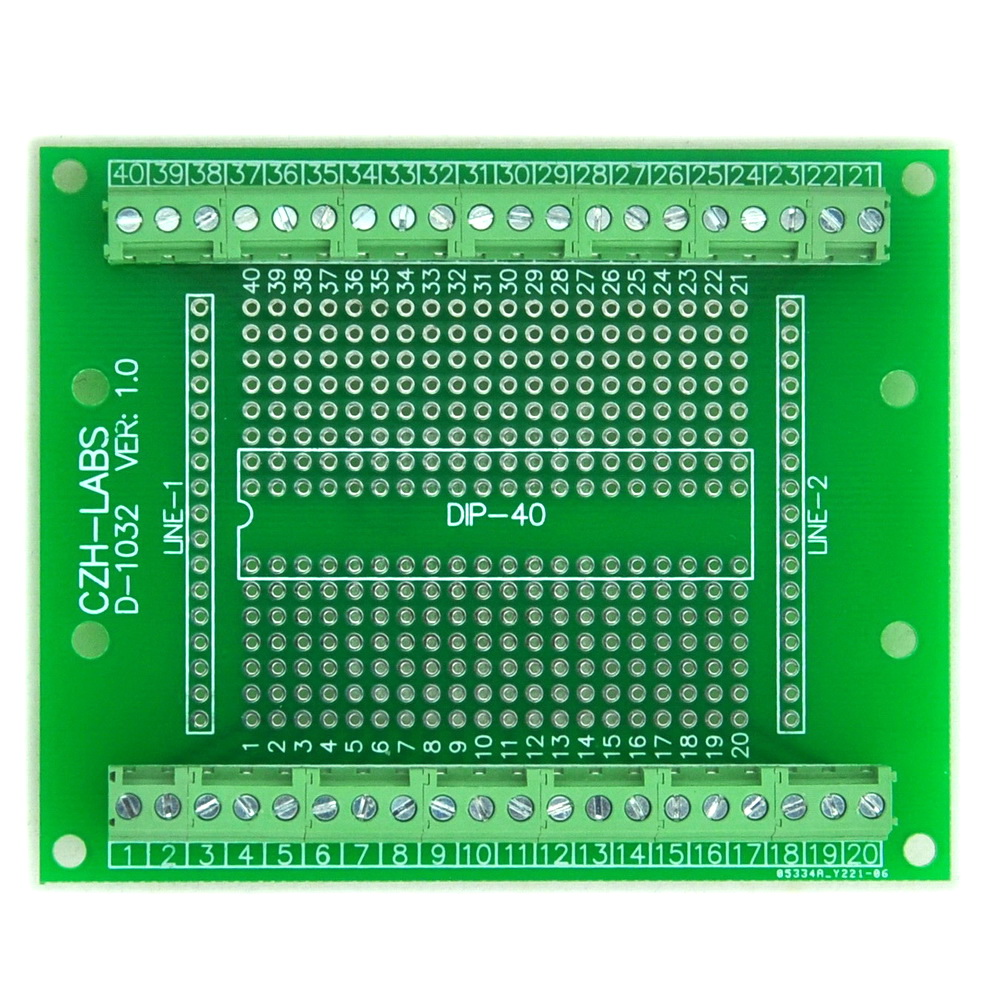 все цены на DIP-40 Component to Screw Terminal Block Adapter Board, DIP40 PCB.