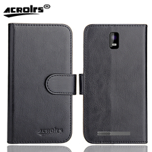 Irbis SP494 Case 6 Colors Dedicated Soft Flip Leather Special Crazy Horse Phone Cover Cases Credit Card Wallet