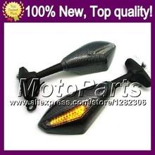 2X Carbon Turn Signal Mirrors For HONDA CBR1100XX 96-07 CBR1100 XX CBR 1100XX 1996 1997 1998 1999 2000 2001 Rearview Side Mirror