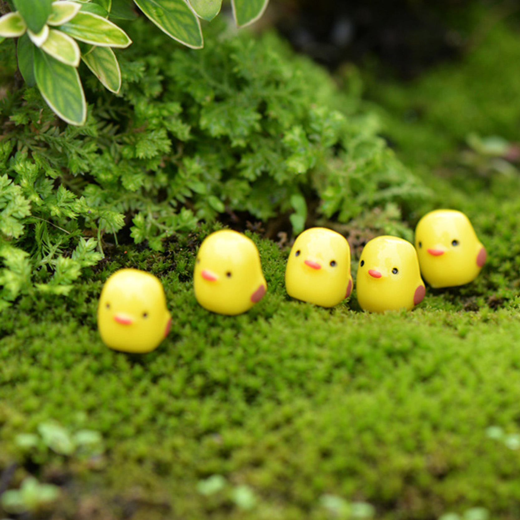 5 Pcs Cute Mini Sheep Dolphins Animals Home Micro Fairy Garden Figurines Miniatures Home DIY Accessories Fairy Garden Supplies