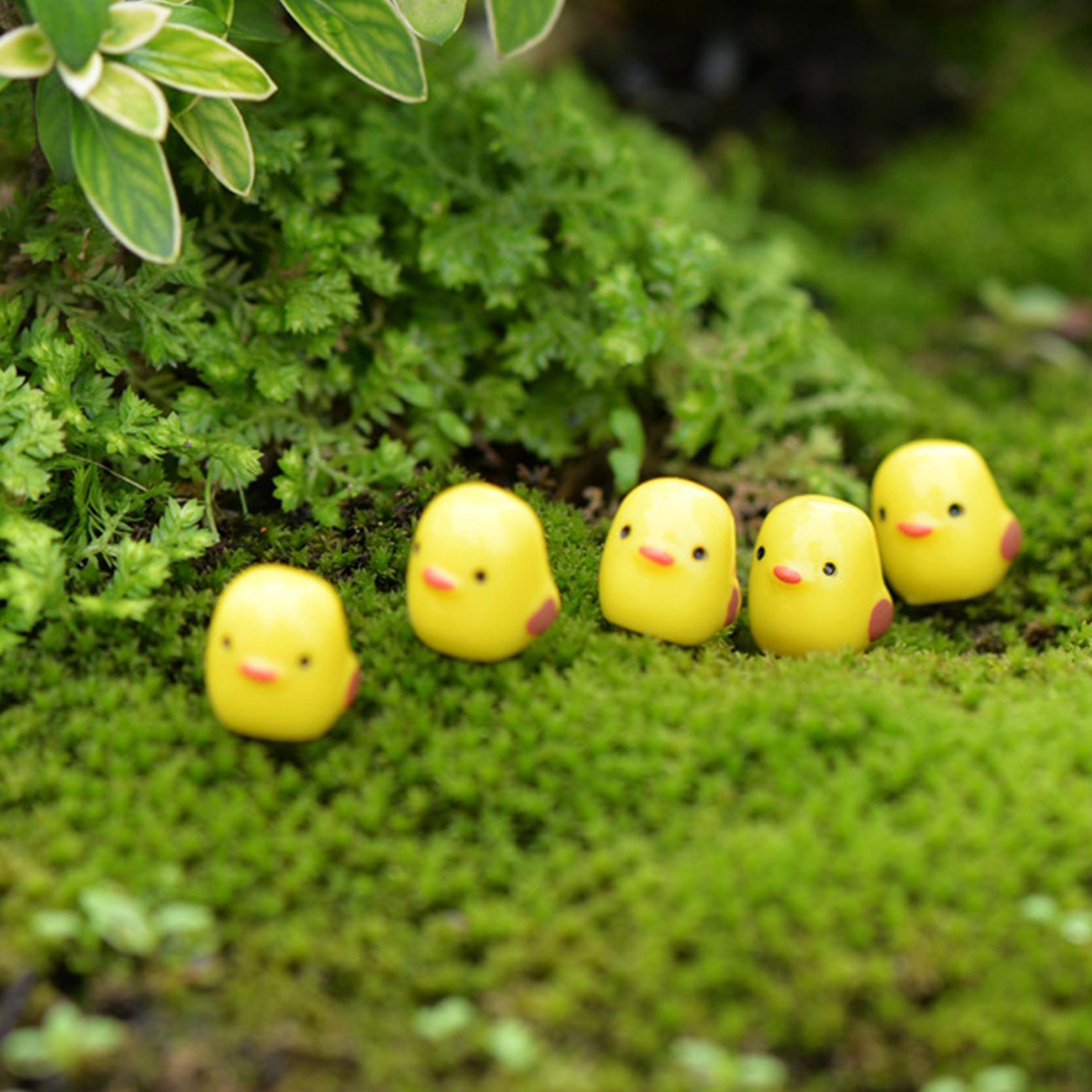 5 Supplied Miniature Ducks Fairy Garden Accessories