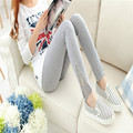 1PCS Spring &Summer  Korea classic Casual style lace broadside High Spandex Floral Ankle-Length Women leggings ninth pants #1537