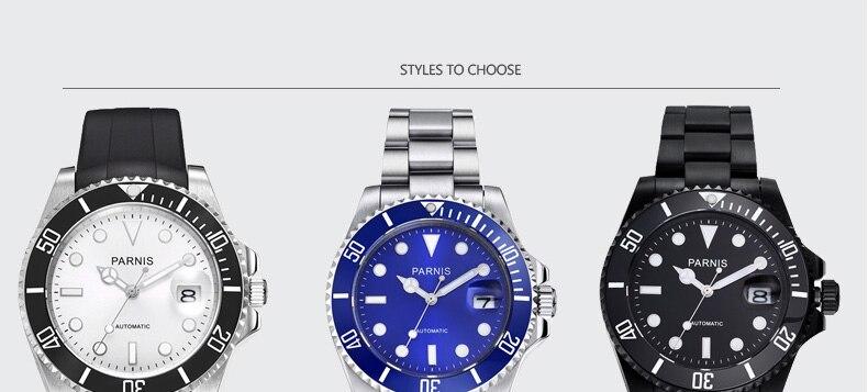 milímetros Parnis Relógio dos homens Modelo PA2105