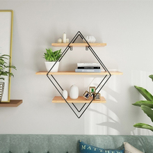 Holz Eisen Wand Lagerung Regal Wand Montiert Lagerung Rack Organisation Für Küche Schlafzimmer Home Decor Kinderzimmer Wand Decor Halter