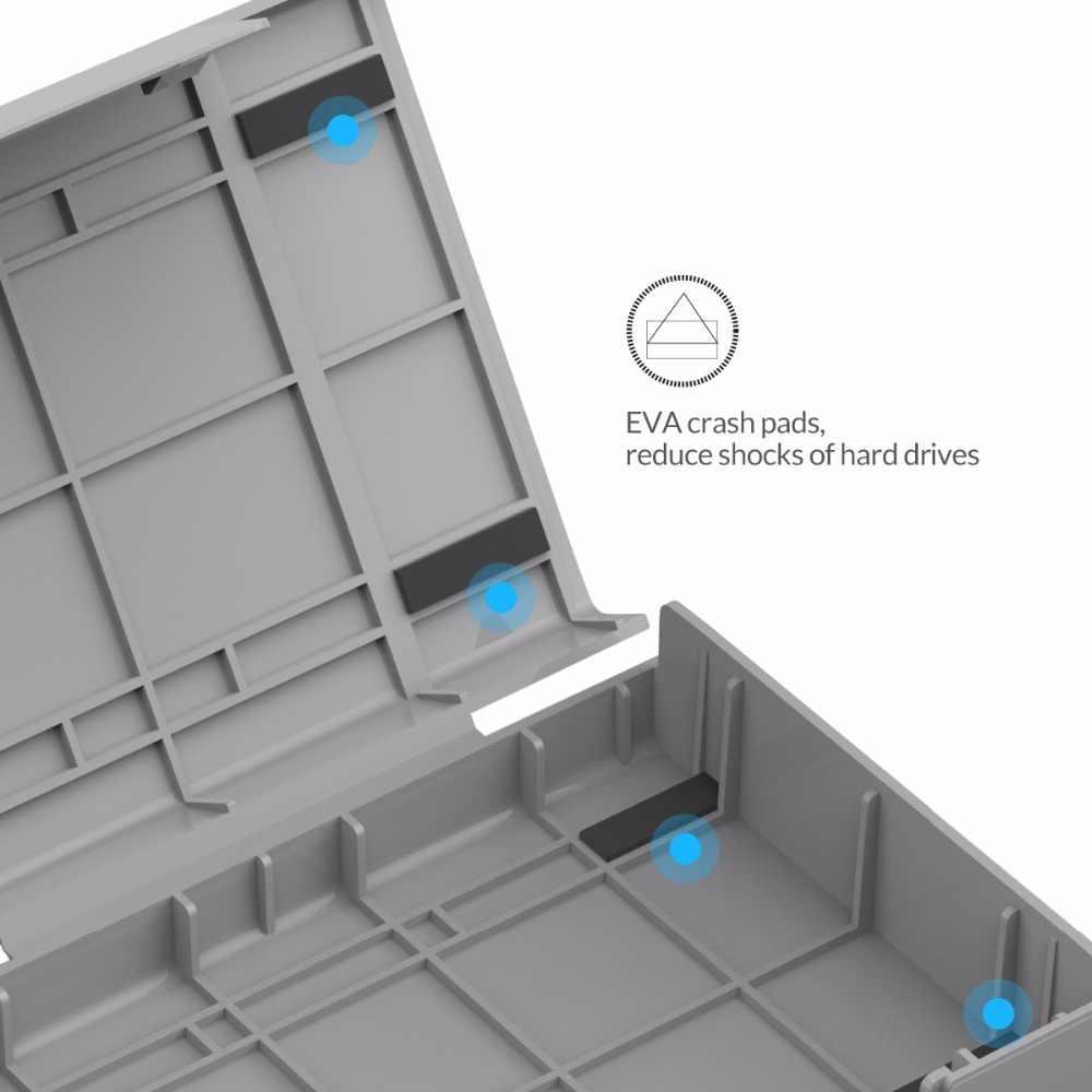 """ORICO PHP-5S-GY basit HDD koruyucu kutu için 3.5 """"HDD durumda su geçirmez fonksiyonu ile 5 adet/LOT- gri"""
