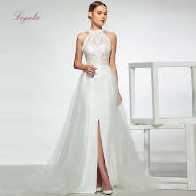 Liyuke A Line Married Wedding Dress 2019 Halter