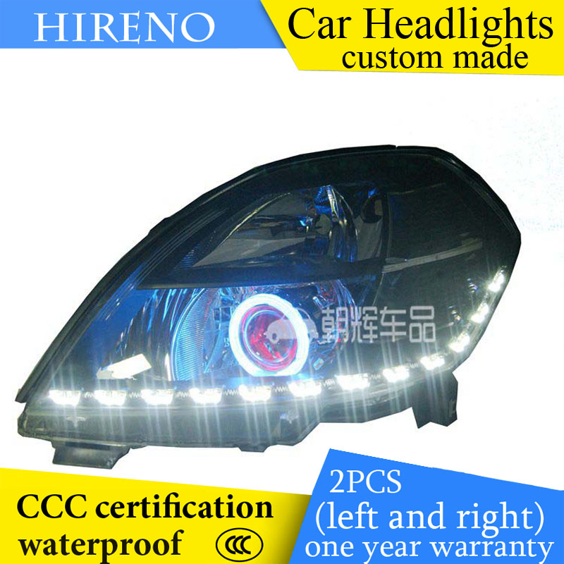 Hireno custom Modified Headlamp for Nissan teana Altima 2004-07 Headlight Assembly Car styling Angel Lens Beam HID Xenon 2 pcs hireno headlamp for cadillac xt5 2016 2018 headlight headlight assembly led drl angel lens double beam hid xenon 2pcs
