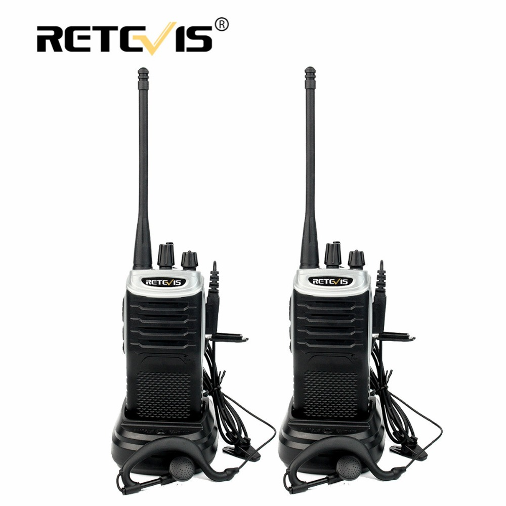 2 st Retevis RT7 Radio Walkie Talkie 5W 16CH UHF TOT FM-radio (88-105MHz) Frekvensportabel Radio Set Handheld Hf Transceiver