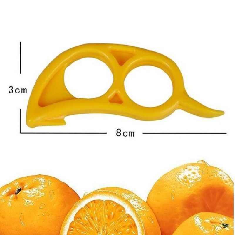Gratis Pengiriman Mouse Bentuk Lemon Jeruk Citrus Peeler Opener Remover Slicer Cutter Cepat Pengupasan Alat Dapur