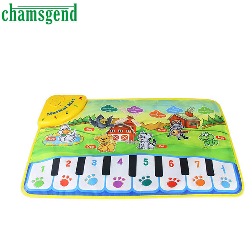 HOT Hot Kids Baby Zoo Animal Musical Touch Play Singing Carpet Mat Toy AUG 30