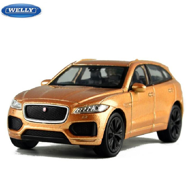 Welly Diecast Metal Model 1:36 Scale JAGUAR F-PACE SUV Toy Car With Pull Back Educational For Kid's Gifts Toys Collection