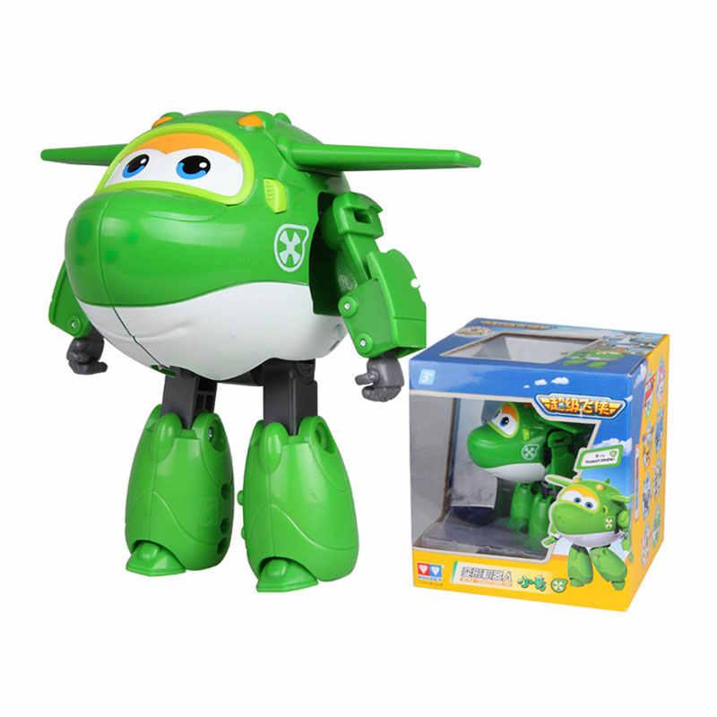 15 cm Mira Siêu Wings Big Kích Thước Máy Bay Chuyển Đổi Robot Hành Động Hình Đồ Chơi Super Wing Mini Jett Đồ Chơi cho Giáng Sinh quà tặng