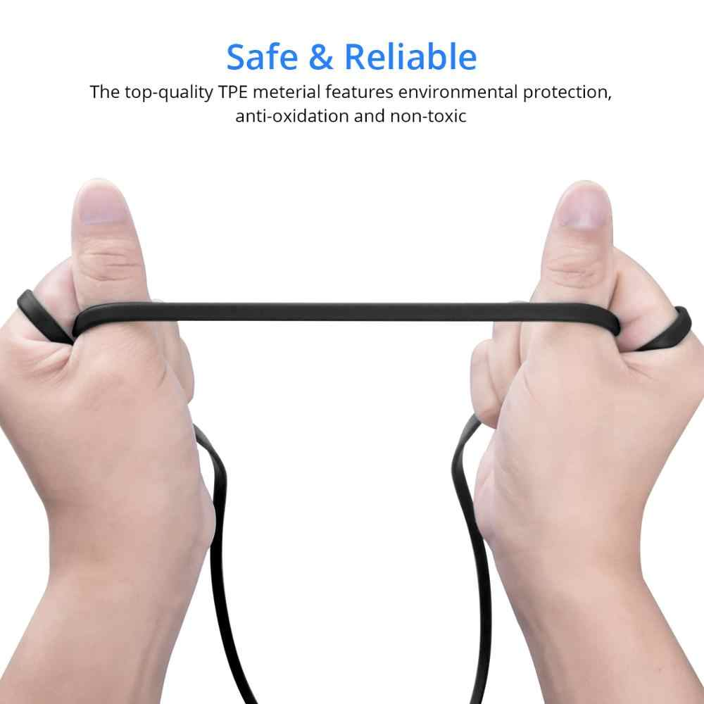 FONKEN マイクロ USB ケーブル急速充電電話ケーブル麺アンドロイド電話電源銀行 30 センチメートル 1 メートル充電マイクロコード