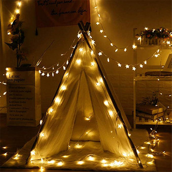 10/20/40/50 LED Star Light String Twinkle Garlands Battery Powered Christmas Lamp Holiday Party Wedding Decorative Fairy Lights 1