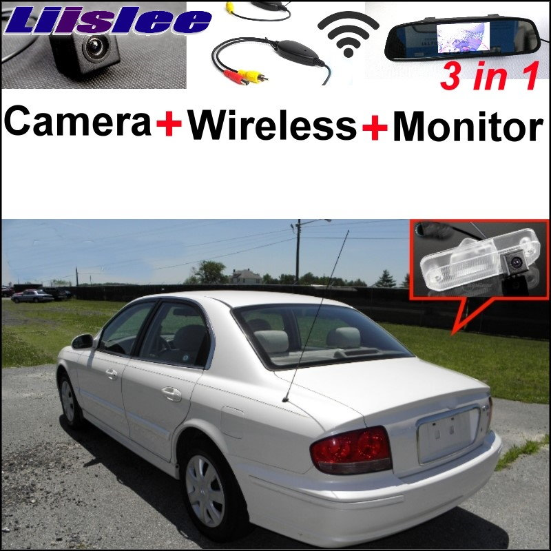 Liislee Special Rear View Camera Wireless Receiver Mirror Monitor Easy Parking System For Hyundai Sonata MK4 Facelift 2001~2005