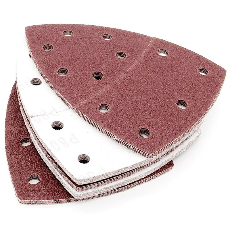 Image 4 - Drop shipping 40PCS Sandpaper  Sheets Hook and Loop Sanding Sheets 105 x 152mm 11 holes Grain Disk Sandpaper 60 240Grits Sanding-in Abrasive Tools from Tools