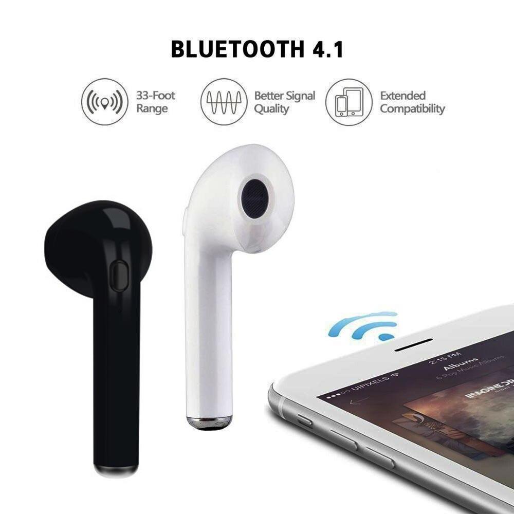 ᗚmini I7tws Single Ear Bluetooth Headset Wireless Headset Hands Free Car Headset With Microphone Phone All Smart Bluetooth Phones A763