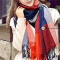 New Sale Autumn Winter Warm Scarf Women Stole Plaid Scarves Tippet Wraps Brand Ladies Classic Neckerchief Shawl
