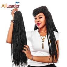 AliLeader, 12-30 дюймов, плетеные косички, волосы для наращивания, 22 пряди, длинные, черные, коричневые, Омбре, синтетические, на крючках, плетение, скрученные волосы