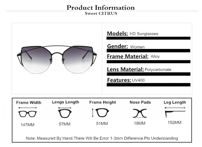 HTB1t9POSpXXXXamXVXXq6xXFXXX7 - Sweet CITRUS Cat eye Sunglasses Women Luxury Brand Designer Metal Original Sun Glasses For Female vintage Oculos De Sol Feminino