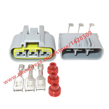 20 Sets 3 Pin Automotive Female Male Electrical Connector Electrical PCB Socket