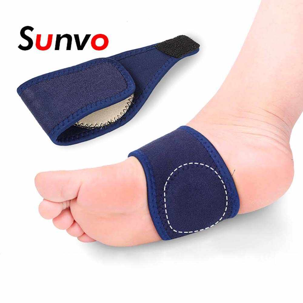 0ae2661674 Sunvo Elastic Arch Support Bandage for Flatfoot Orthopedic Plantar  Fasciitis Pain Relief Orthotic Cushion Pads Inserts