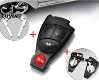 Smart Remote Key Shell 3 1 Buttons Car FOB Case For Mercedes Benz With Battery