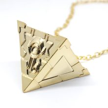 Game Duel Monsters keychain pendant necklace pyramid Yugioh Millenium Jewelry Toy porte cle metal women Men party Accessories(China)