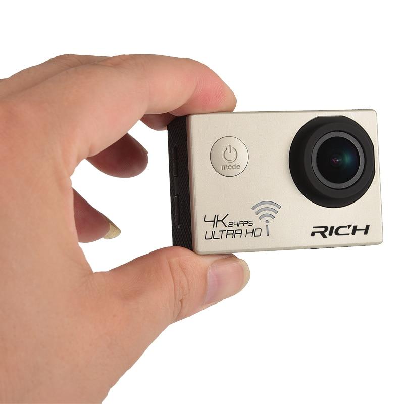 DHL Sport Camera NT96660 4K 24fps ULTRA HD 16MP WiFi 30M Waterproof Action camera Aluminum Extendable Pole Stick+camera bag цены