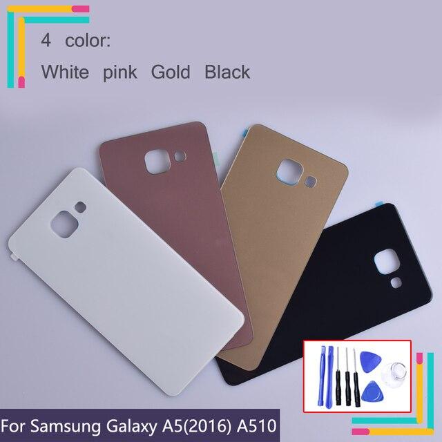 Porta traseira Habitação Para Samsung A5 2016 Para Samsung Galaxy A510 A510F A5100 Traseira de Vidro Tampa Traseira Da Bateria Caso 3D tampa da caixa