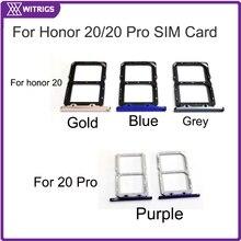 Witrigs держатель лотка для sim-карты слот для Honor 20 Pro Lite 20i 10i лоток для sim-карты