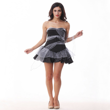 Free shipping 2018 adult New Halloween dark ghost bride witch princess short costume dress corpse sexy cosplay