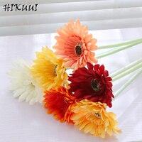 12 sztuk/partia Żywe Prawdziwe Dotykowy Daisy Gerbera Kwiaty Ślubne Dekoracje Domu Dekoracje Birthday Party Urząd Decor Sztuczne Kwiaty