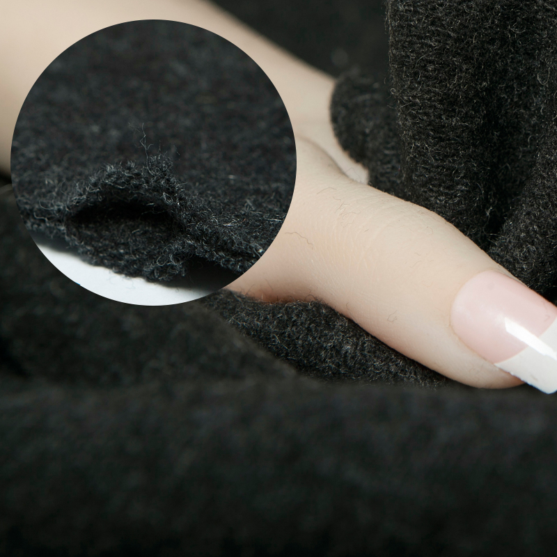 Knitted stretchy double layer wool fabric, solid color, sewing for jacket, coat, dress, skirt, sweater, craft by the yard
