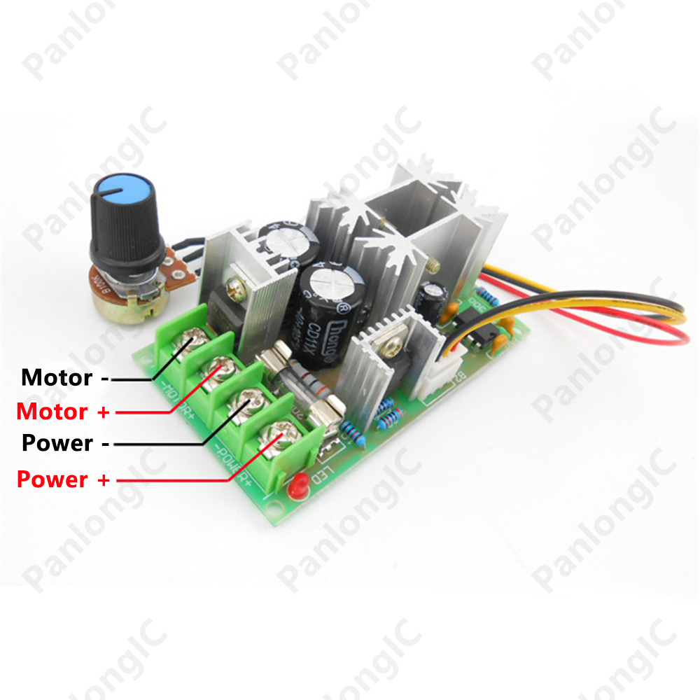 Buy 6v 60v 20a pulse width modulator pwm for Motor speed control pwm