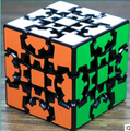 Authentic  Blue  Third-order cube shaped gear black cube lubrication third-order special 3D cube puzzle game