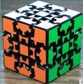 Authentic Terceiro Azul-lubrificação cubo de terceira ordem cubo em forma de engrenagem preta-ordem especial 3D puzzle game cube