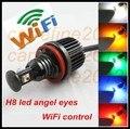 Wi-fi управления RGB canbus h8 40 Вт изменение цвета светодиодные ангел глаз светодиодное кольцо маркер для bmw e90 e91 e92 e87 e70 e71 x5 x6 ангел глаз комплект