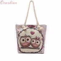OCARDIAN Handbag Casual Clutch Bag Female Polyester Shoulder Owl Printed Tote Bags Women Shoulder Bag Shopping