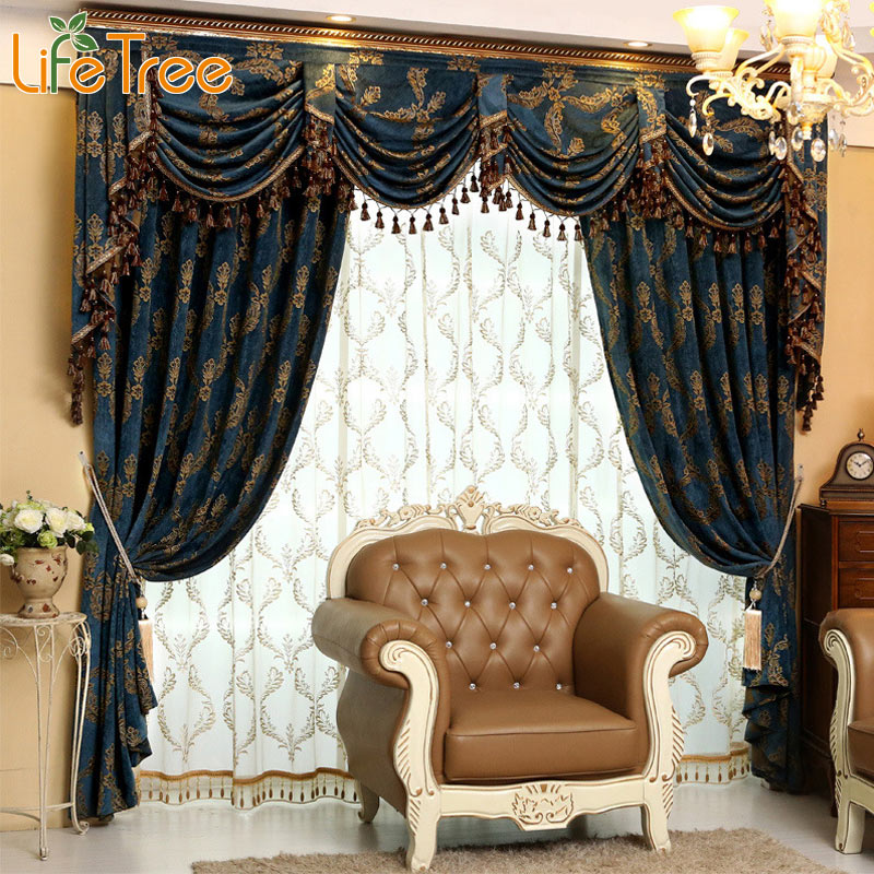 Luxury Thick Curtains For Living Room Bedroom Blackout
