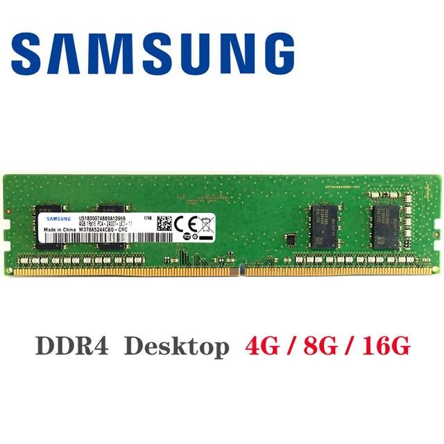 Samsung ddr4 ram 8 gb 4 GB PC4 2133 МГц или 2400 МГц 2666 2400 T или 2133 P 2666 V модуль памяти DIMM для компьютера поддерживаемая материнской платой флеш-накопитель 16Гб 8... 1