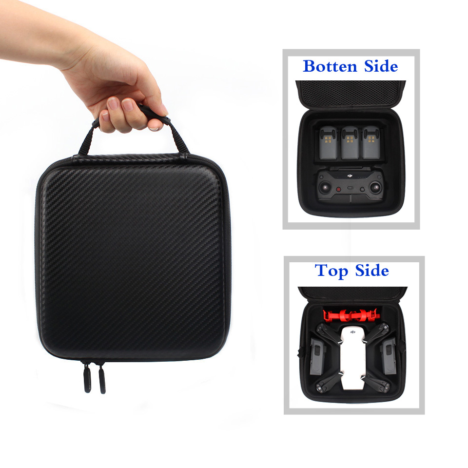DJI Spark PU Double Deck Waterproof Case Portable Hand Bag Carrying Suitcase for DJI Spark Drone Accessories 2018 new protective carrying cover bag case for dji spark drone portable charging station remote control