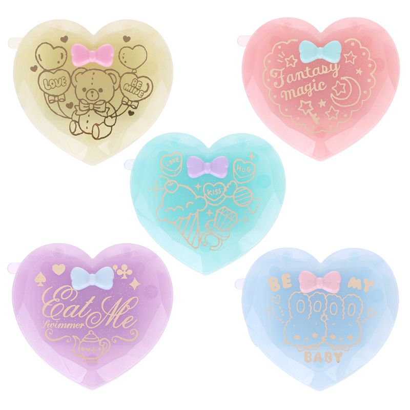 Skin Care Tools Mirrors Reasonable Portable Hand Pocket Heart-shaped Double Folded-side Mirror For Woman Make Up