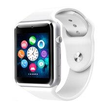 Bluetooth Relógio Inteligente Relógio de Homens Relógio De Pulso Com Passometer A1 Câmera Do Cartão Do SIM Para Huawei Xiaomi HTC Android Melhor Do Que GT08 DZ09