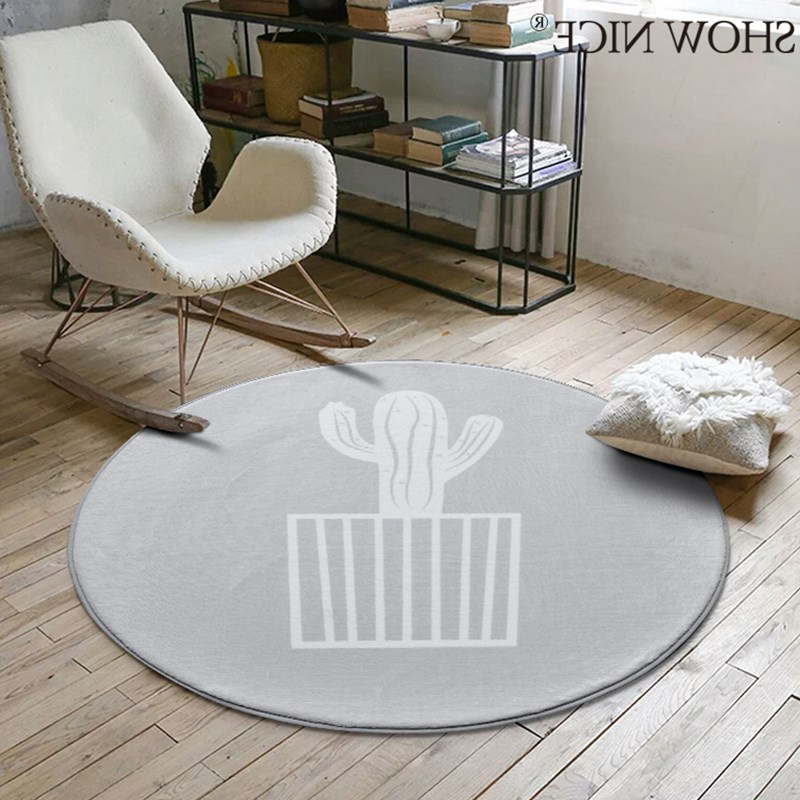 Nordic Gray Series Round Carpets For Living Room Game Crawl Rug Child bedroom computer chair Floor Mat Cloakroom Rug And Carpet