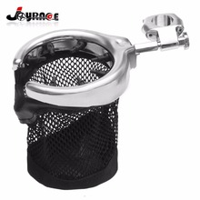 Chrome Universal Motorcycle Handlebar Cup Holder Metal Drink Basket For Harley 22MM 7/8