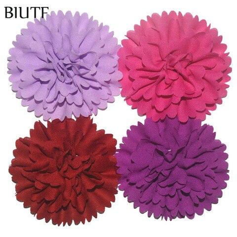 "200pcs/lot Wholesale Supply 3"" Chiffon Fabric Ballerina Flowers DIY Weddings Garment Boutique Hair Accessories 30 Color FH32 Karachi"