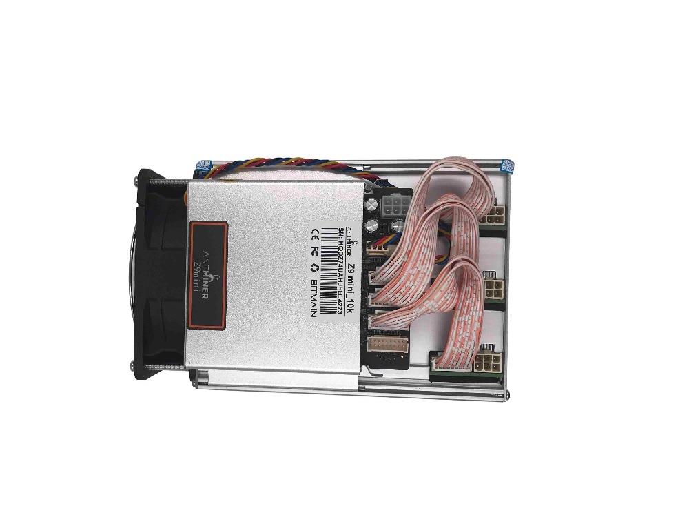 Купить с кэшбэком KAUNGCHENG old ZCASH Asic Antminer Z9 Mini 10k (with psu) BITMAIN z9 zec BTC Miner on Equihash nicehash Deliver DHL ems no tax