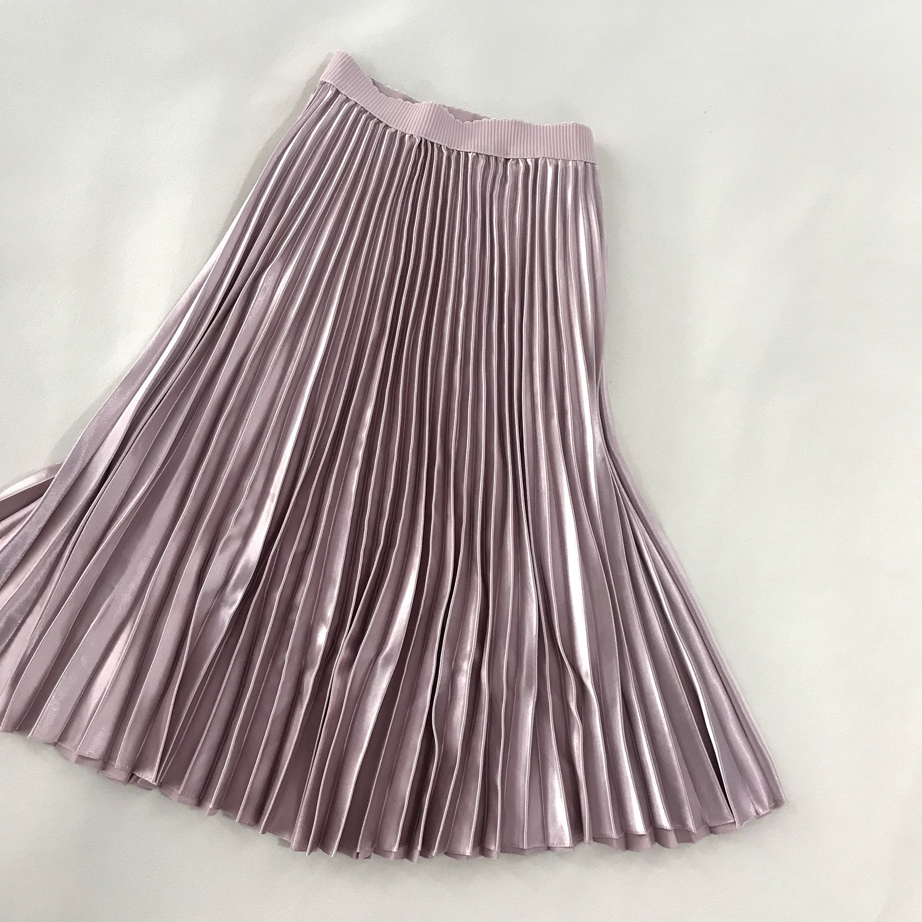 Sherhure 2018 Spring Women Long Skirts Fashion Brand A-Line Women Pleated Skirts High Waist Women Midi Skirt Faldas Mujer Saias 3